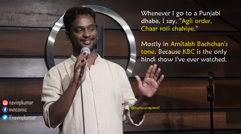Navin Kumar's stand-up: South Indian vs Hindi