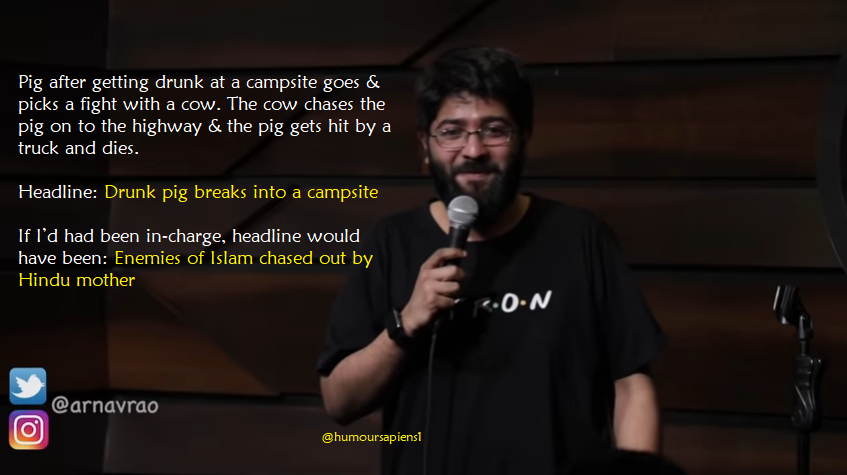 Comicstaan Fame Arnav Rao kills it in Media, God & Google