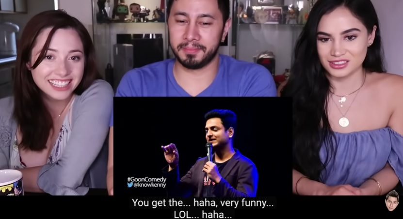 Jaby Koay and friends react to Kenny's stand-up comedy